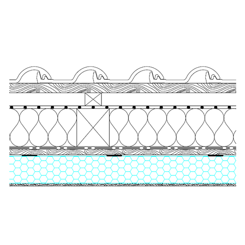 Skeletal roof - basic section